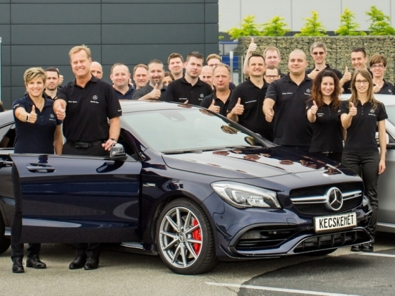Mercedes benz manufacturing hungary launches mass for Mercedes benz manufacturing