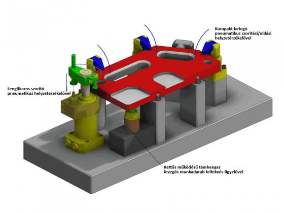 Kifogástalan befogástechnika  Automatikus pozícióellenőrzés munkadarabokhoz  és szorítóelemekhez 3f133f79f8